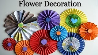 getlinkyoutube.com-Paper Rosettes - Beautiful flowers - DIY Paper Crafts for teenagers - Room decoration