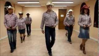 getlinkyoutube.com-turn it on cowboy line dance