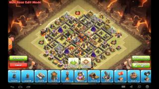 """Max TH9 war base """"The Sinner"""" - Never been 3 starred /W replays & Explanation"""