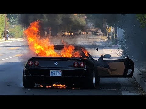 Burnt Ferrari F355