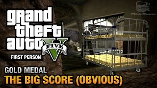 getlinkyoutube.com-GTA 5 - Mission #79 - The Big Score (Obvious) [First Person Gold Medal Guide - PS4]
