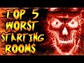 Top 5 WORST Starting Rooms! Call of Duty Zombies Black Ops 3, BO2, BO & WAW Gameplay