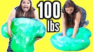 getlinkyoutube.com-100 LBS OF SLIME! DIY Giant 45 Kilo Slime Stress Ball!