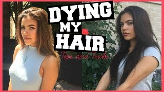 DYING MY HAIR BROWN - Professional Tips & Tricks/Tutorial