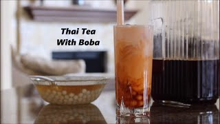 getlinkyoutube.com-Thai Tea with Boba Recipe (Bubble Tea) | SimplyTasty