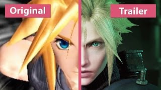 getlinkyoutube.com-Final Fantasy VII – Original (PS4) vs. Remake Trailer Comparison