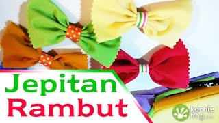 getlinkyoutube.com-DIY Hair Bows Tutorial - Cara Membuat Jepitan Rambut Bentuk Pita