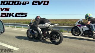 getlinkyoutube.com-Sequential EVO IX battles BMW S1000rr and Honda CBR1000