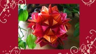 getlinkyoutube.com-Origami ✿⊱╮ Frau Marta ✿⊱╮ Kusudama