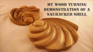 getlinkyoutube.com-##  Wood turning Demonstration of a  Sauracker Shell