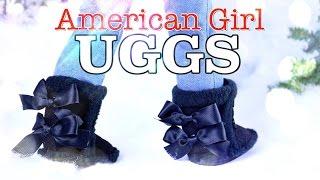 getlinkyoutube.com-DIY - How to Make: American Girl UGG Boots - Holiday Gift Ideas - Craft - 4K