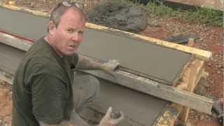 getlinkyoutube.com-Concrete Step Form Liners - Pouring Concrete Steps