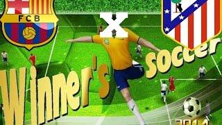 getlinkyoutube.com-atlético de madrid x  barcelona - winner soccer evolution elite