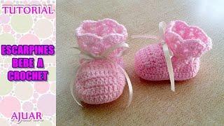 getlinkyoutube.com-DIY como tejer escarpines, botitas, patucos para bebe a crochet, ganchillo AJUAR