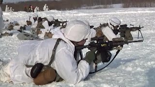 getlinkyoutube.com-日米雪中戦訓練 NorthWind2 陸上自衛隊(第1空挺団・第5旅団) 北海道・矢臼別演習場