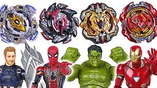 Beyblade-super-zetsu-B-110-113-115-117-appeared-Marvel-Avengers-Hulk-vs-Thanos-DuDuPopTOY width=