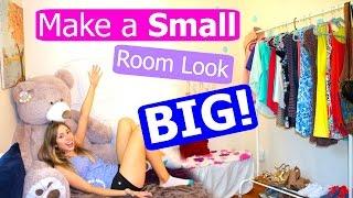 getlinkyoutube.com-10 TIPS + Lifehacks to Make Your Room Look Bigger!