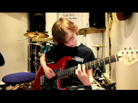 10 year old Mini Band guitarist Kieran Fell plays Walk by Foo Fighters