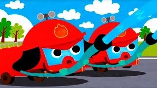 getlinkyoutube.com-Мультики про машинки. Машины помощники - Пожарная машина, Уборочная машина, Скорая помощь, Эвакуатор