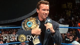 Schwarzenegger lays the SmackDown on Triple H: This Week in WWE History, Nov. 12, 2015