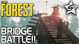 getlinkyoutube.com-THE BRIDGE BATTLE, CATAPULT EVASION!! - The Forest Multiplayer Gameplay w/ Ser Winter, Argyle, Bizz
