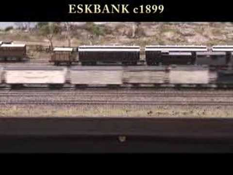 Eskbank c1899  NSWGR part1 - Australian Model Railway Layout (Lithgow NSW)