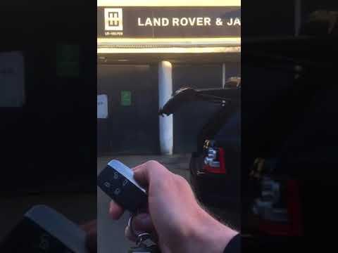 Range rover sport и Evoque закрытие багажника с брелка