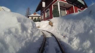 getlinkyoutube.com-Western LGB Gartenbahn Winter Lokperspektive