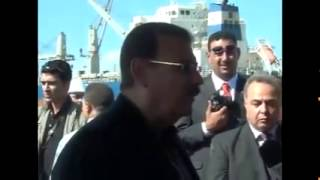 Minister of Transport in Damietta Port , Sunday 28 th of September 2014