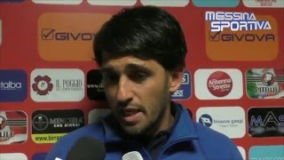 Messina-Paganese 2-2. L'allenatore della Paganese, ex di turno, Gianluca Grassadonia