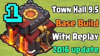 getlinkyoutube.com-Clash of clans - Townhall 9.5 Farming/Trophy Base Build