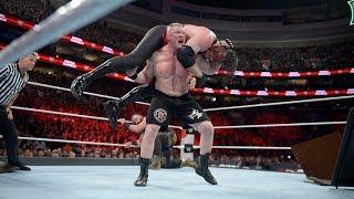 Brock Lesnar vs kane vs brown stroman triple threat. Match royal rumble 2018 29 jan 2nd     Part