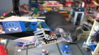 getlinkyoutube.com-CATZILLA Attacks Legotown! - Lego Town Destruction Tour