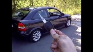 getlinkyoutube.com-Opel Astra G hands free smart key test with automatic windows roll up and down
