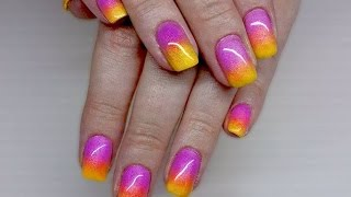 getlinkyoutube.com-Ombre Nail Art Technique with Pigment Powder