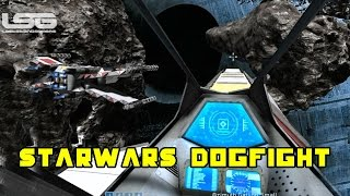 getlinkyoutube.com-Space Engineers - Star Wars Dogfight, Destroy The Imperial Bunker