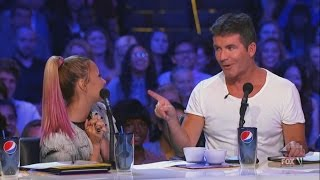 getlinkyoutube.com-Demi Lovato and Simon Cowell - Funniest moments on The X factor - Season 2 (1/6) LEGENDADO