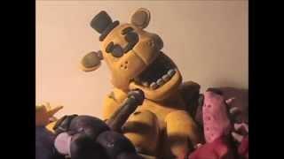 getlinkyoutube.com-Five Nights at Freddy's Clay Figure #5 - Golden Freddy