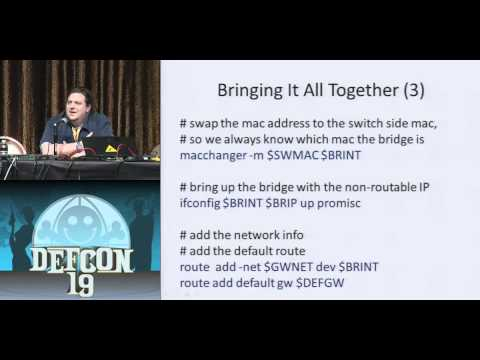 DEF CON 19 Hacking Conference Presentation By   Alva Skip Duckwall   A Bridge Too Far Defeating Wired 8021x with a Transparent Bridge Using Linux   Video -QwvfTV6lciU