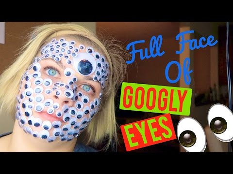 A FULL FACE OF GOOGLY EYES CHALLENGE! 👀 // SoCassie