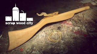 How to make a wooden rubber band toy rifle
