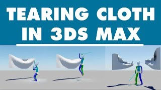 Autodesk 3ds max Tutorial - Tear cloth in 3ds max