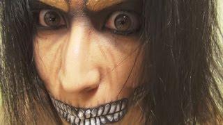 getlinkyoutube.com-「進撃の巨人(Attack on Titan)」エレン巨人化メイク方法(化粧)Eren Titan Form Makeup Tutorial