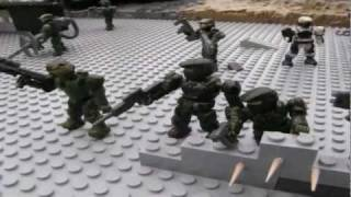 getlinkyoutube.com-Halo Mega Bloks: Battle for Tabletop Ridge (Stopmotion Contest entry) 31/10/11