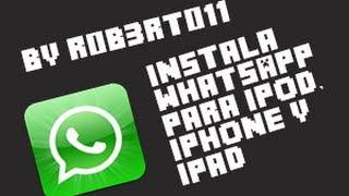 getlinkyoutube.com-Como Instalar WhatsApp Al iPod, iPhone, iPad 2012