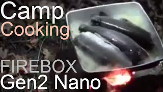 "getlinkyoutube.com-Trout Fishing, Dry-Baking & Camp Cooking On 5"" & Gen2 Nano Folding Firebox Stoves"