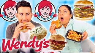 Trying Wendys FAST FOOD Taste Test!