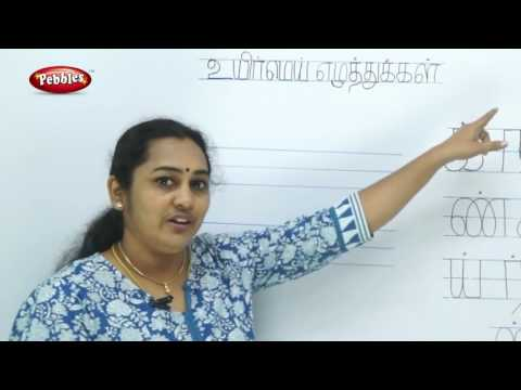 How to write Tamil Alphabets -ஈ வரிசை & Words Formation -