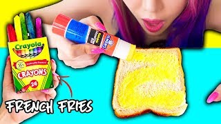 10 Pranks With Edible School Supplies! Back To School Prank Wars! width=