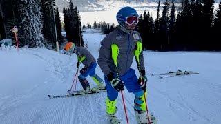 getlinkyoutube.com-2016.12.04. Barnabas and Benjamin Szollos Slalom @ Hochwurzen